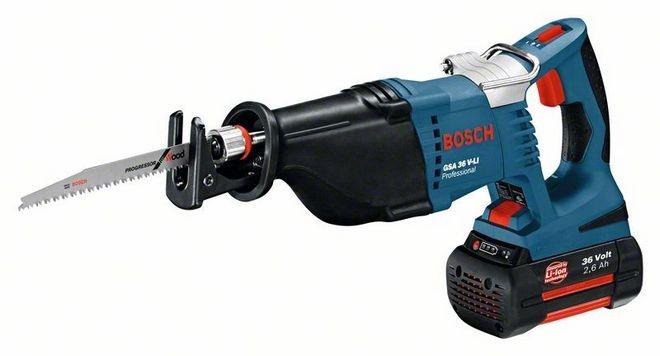 Bosch GSA 36 V-LI, Bajonetsav