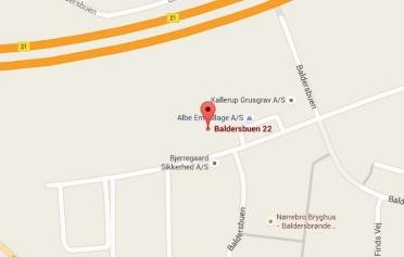 Google Maps kort over Erenfred Pedersen A/S i Hedehusene