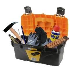 Den praktiske værktøjskasse, inkl. 7 dele