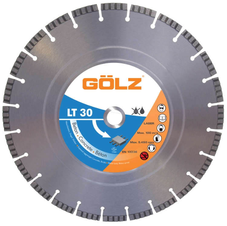 Gölz LT 30, Ø400x25,4 mm, Diamantskive