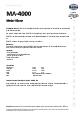 Teknisk datablad, Kema Metal-klene MA-4000, Spray, 400 ml