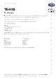 Teknisk datablad, Kema TB-338