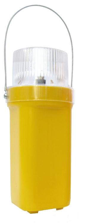LED Blinklygte m/beslag, Hvid