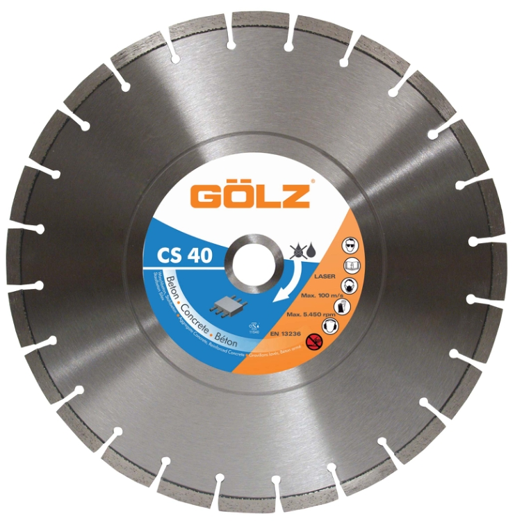 Gölz CS 40, Ø350x25,4 mm, Diamantskive