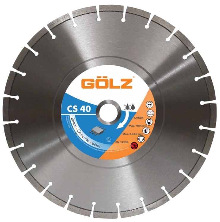 Gölz CS 40, Ø350x25,4 mm, Diamantskive