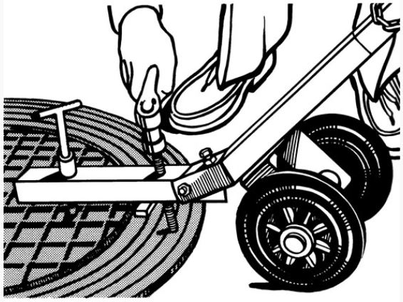 Dækselløfter m/hjul