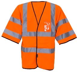 Advarselsvest, Orange, Str. XL