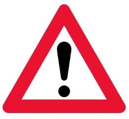 Advarselstavle A99, 70 cm