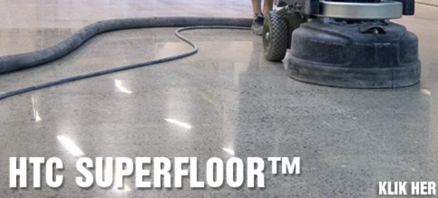 Gulvløsning: HTC Superfloor - slibning af gulv