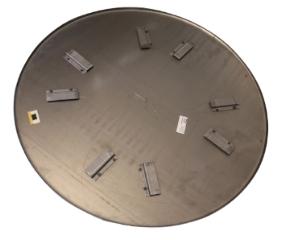 Glittetallerken BG92 (2 stk.), Ø1160 mm