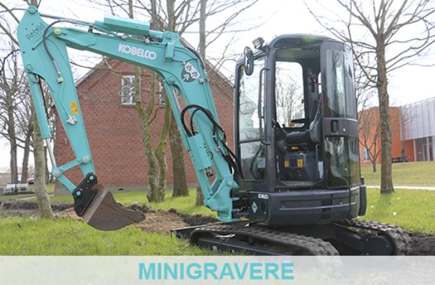 Erenfred Pedersen A/S er i Danmark forhandler af Kobelco minigravemaskiner / minigravere