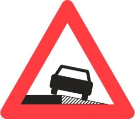 Advarselstavle A35, 70 cm