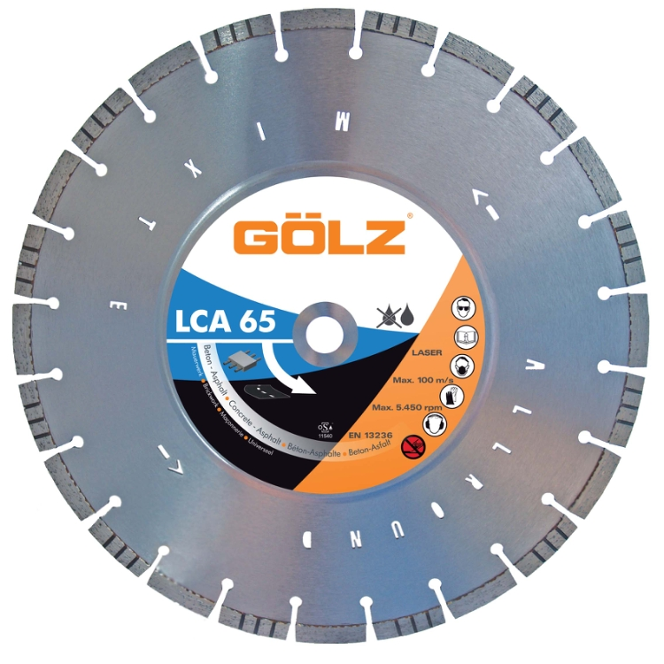 Gölz LCA 65, Ø350x25,4 mm, Diamantskive