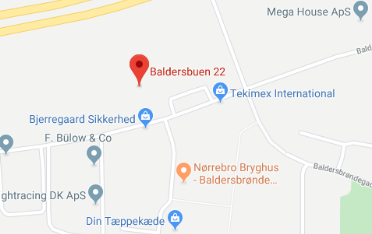 Google Maps kort over Erenfred Pedersen A/S i Hedehusene