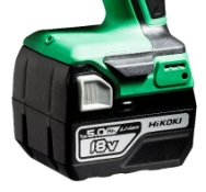 Hikoki DS18DD, Bore-/skruemaskine, 5,0 Ah, 18V (inkl. 2 x batterier og lader)