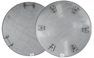 Glittetallerken, Ø610 mm